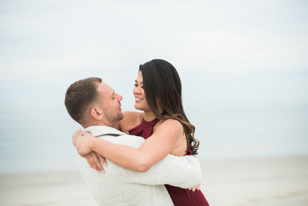 New England Beach Engagement Session
