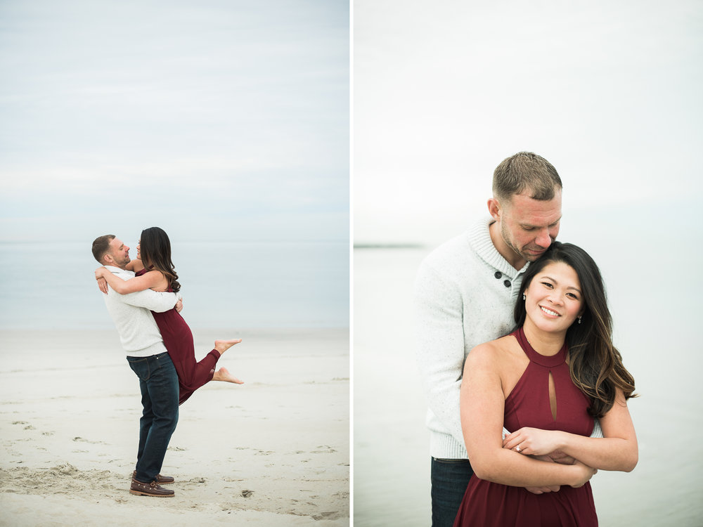 Massachusetts Beach Engagement Photos