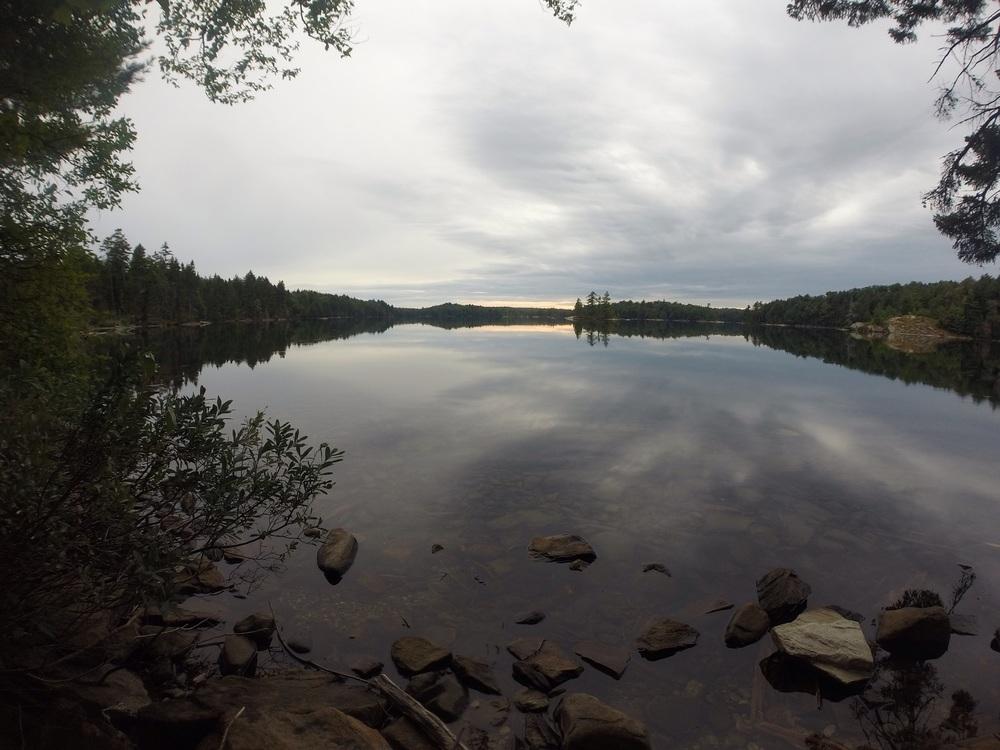 Calm mornings on Maple Leaf lake.