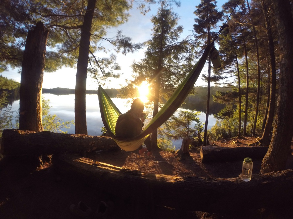 One of my favourites from the trip. Hammock, hot chocolate, and sunset from night one.