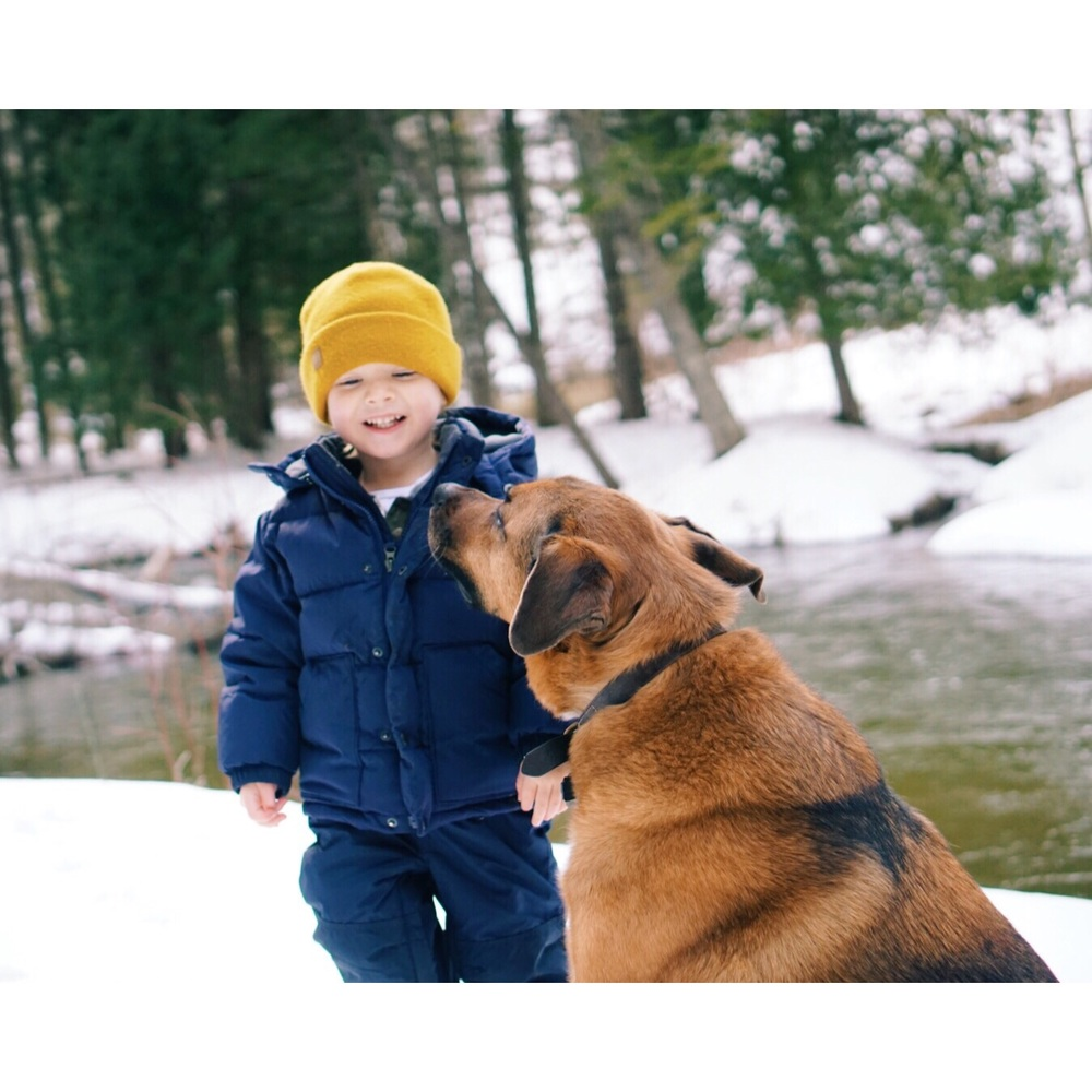 Boys and their dogs.