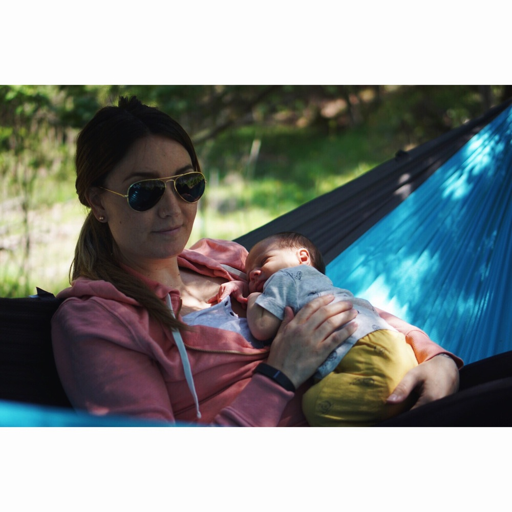 Hammock breastfeeding is my new favourite thing. Milo agrees ;)
