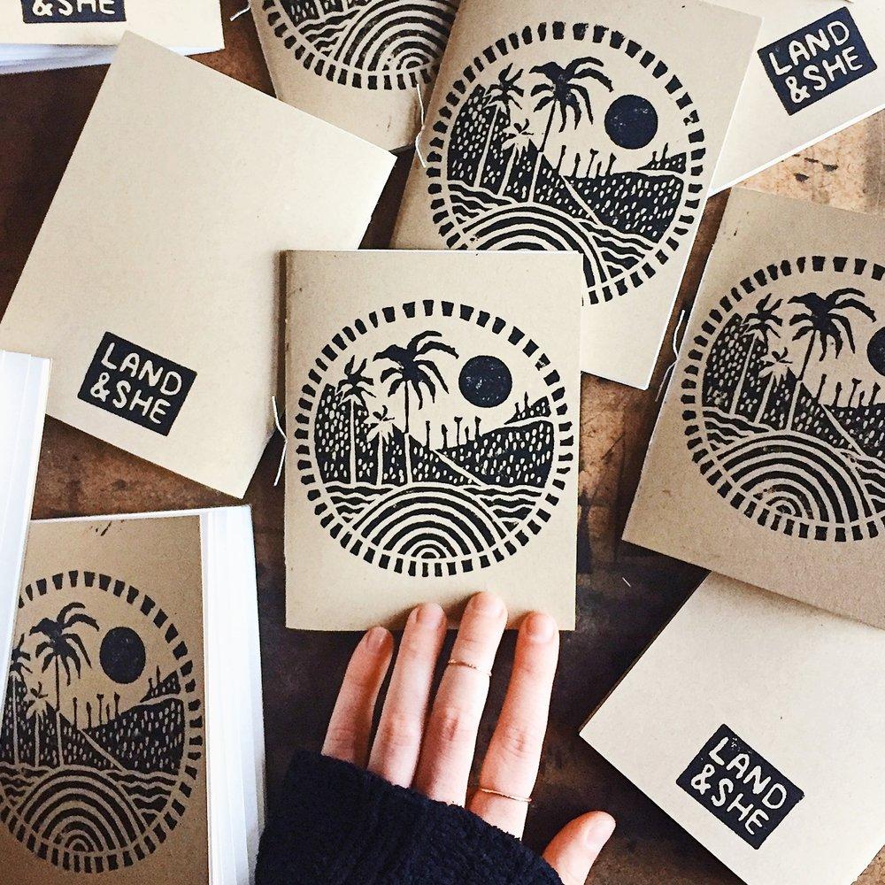 Notebook journals handmade for Casa Joshua Tree.