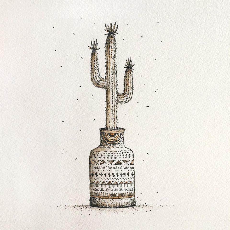 Cactus emoji interpretation for The Emoji Book Project.