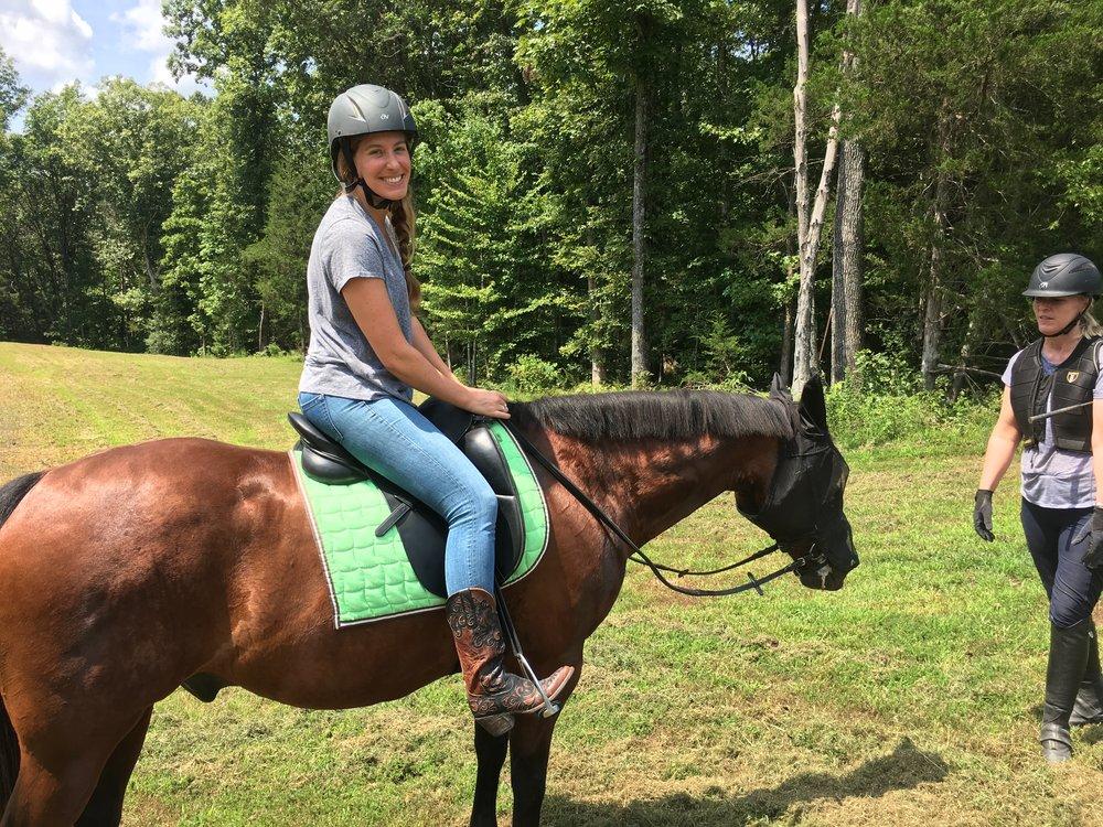 Daughter-in-law, Amanda riding Gunner