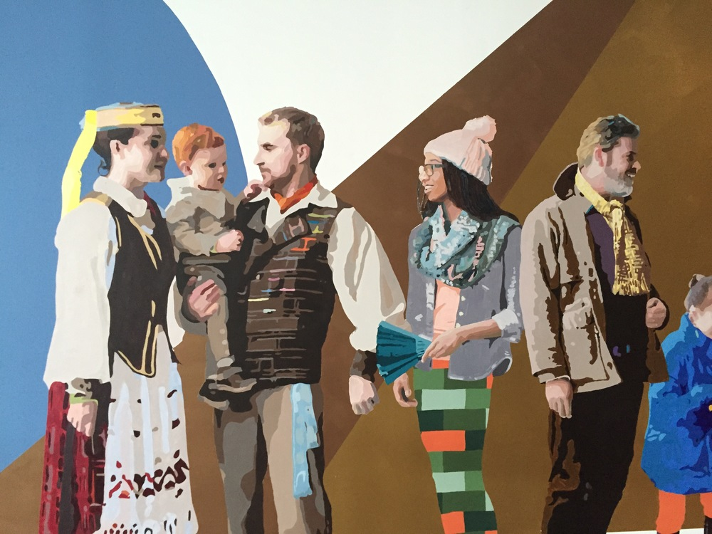 Lithuanian Family with Visitors