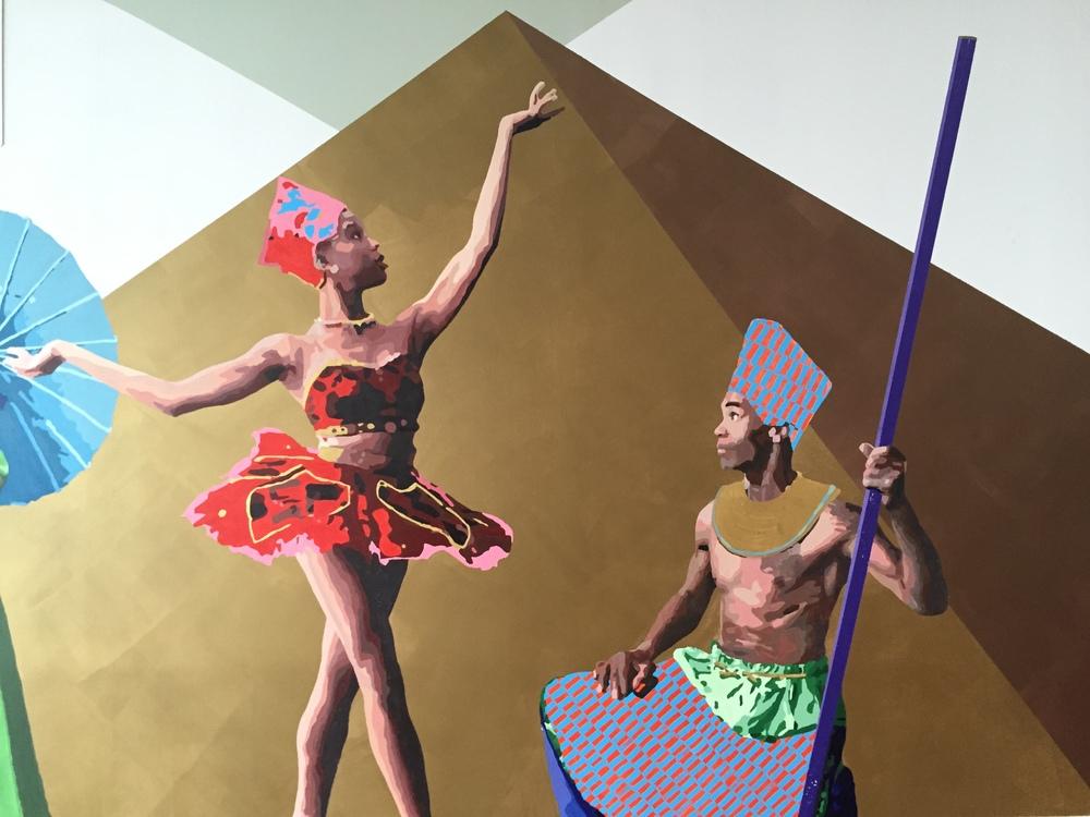 Ballerina with African Warrior