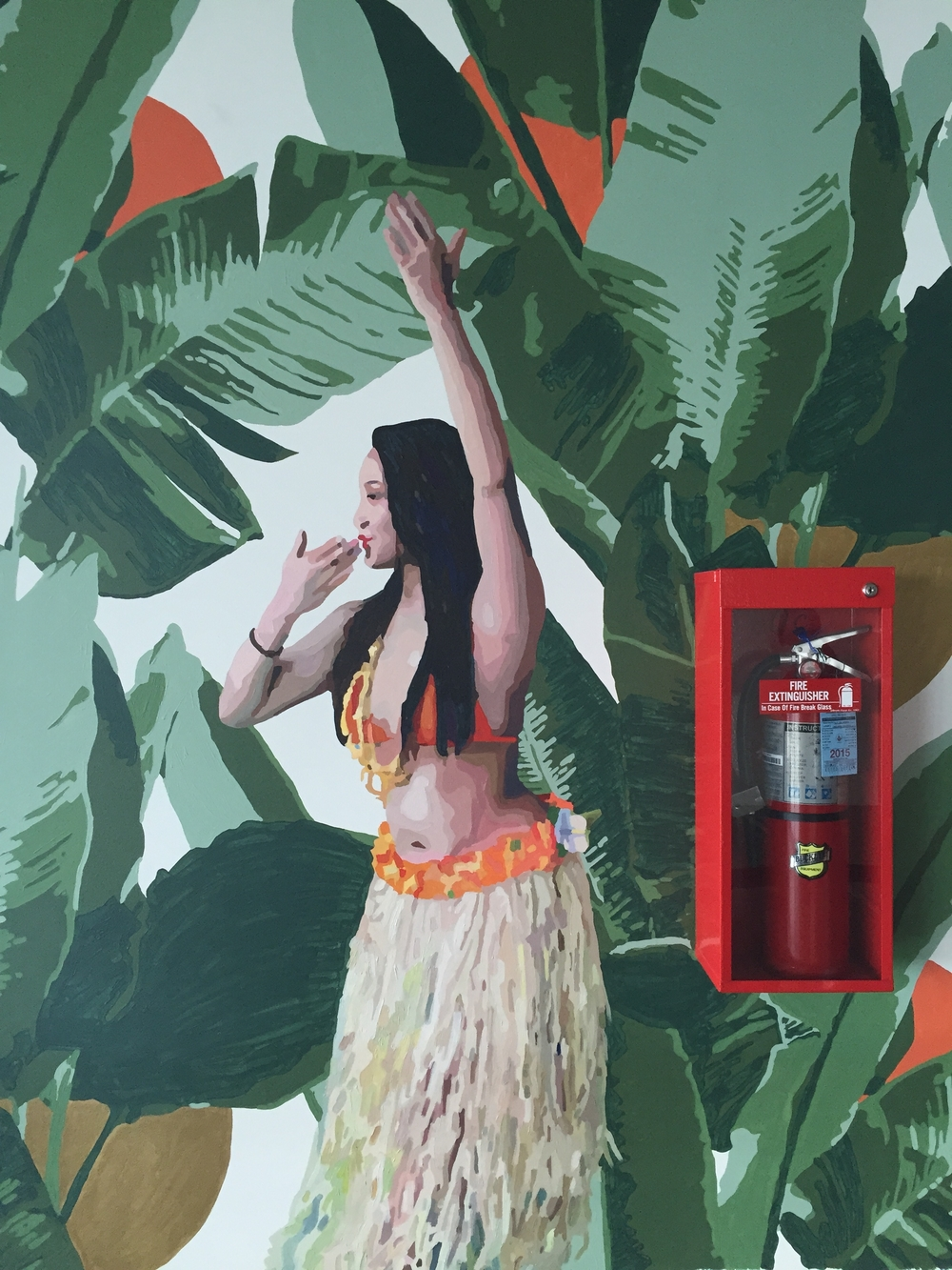 Hula Girl with Fire Extinguisher