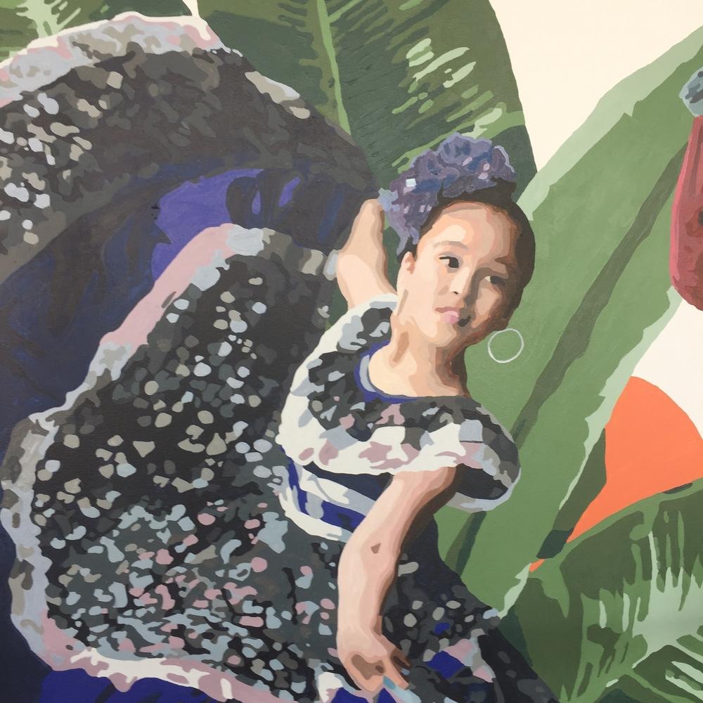 Flamenco Girl Twirling Dress