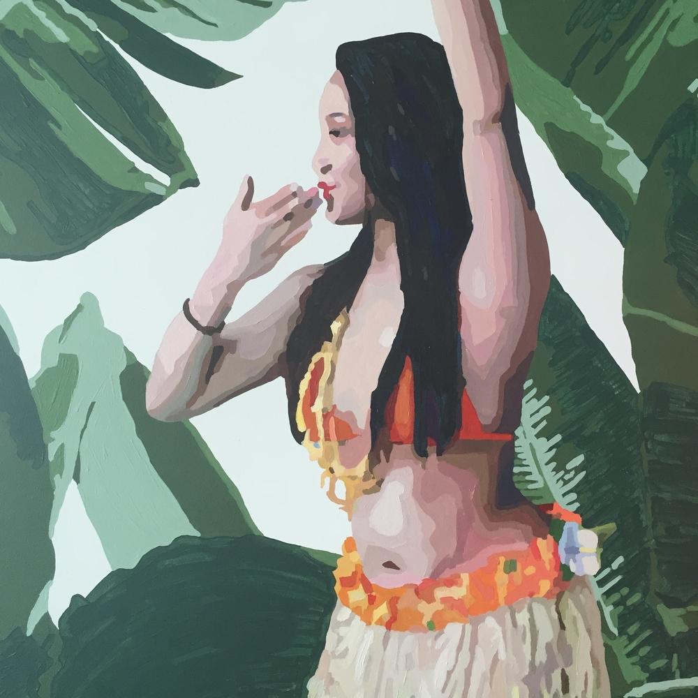 Hawaiian Girl Sending Off the Voyagers