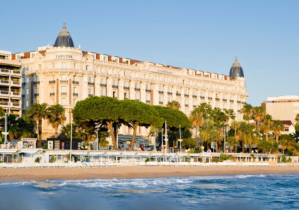 De luxe strandboulevard La Croisette.