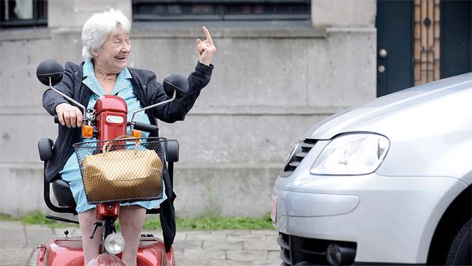Senioren redden zich prima in het verkeer.