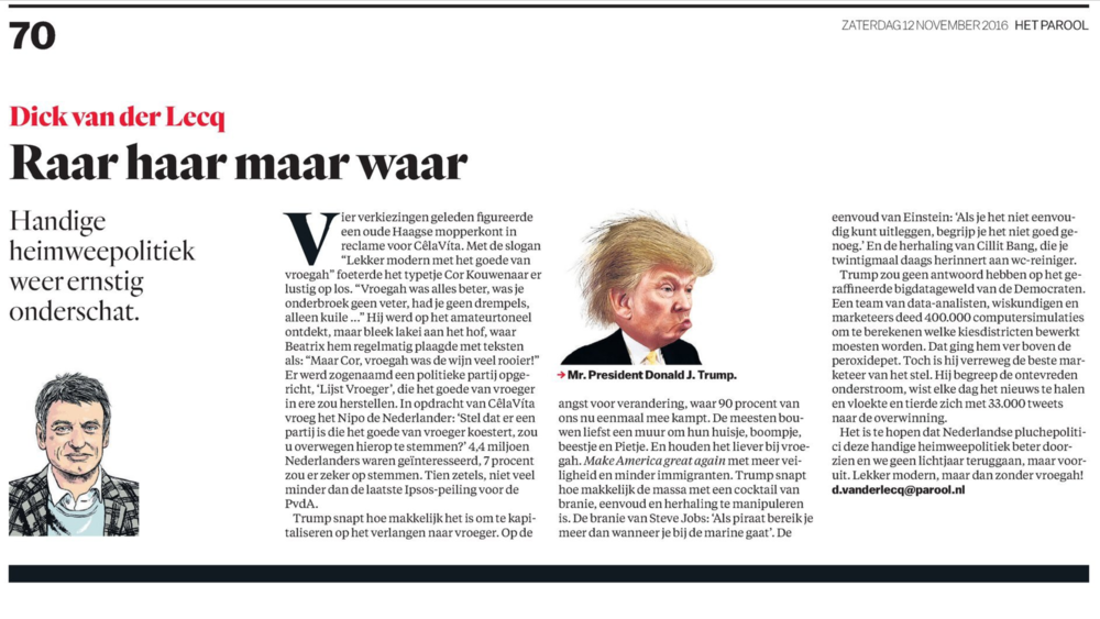 Het Parool, Adformatie en MarketingTribune.