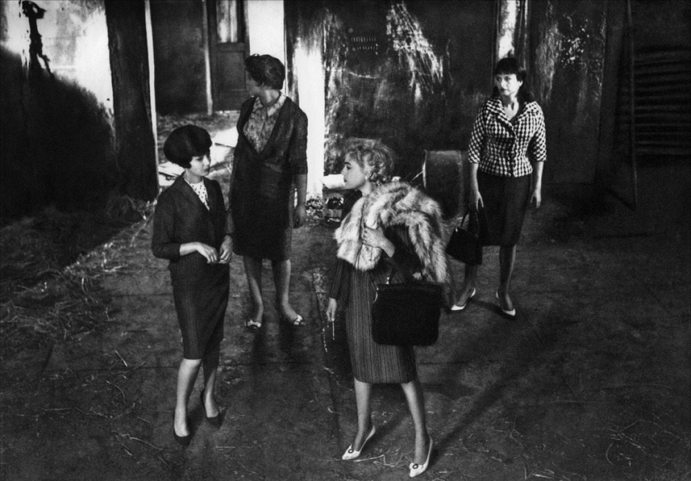 From left to right: Emmanuelle Riva, Gina Rovere, Simone Signoret, and Sandra Milo as the four central women in   Adua and Her Friends
