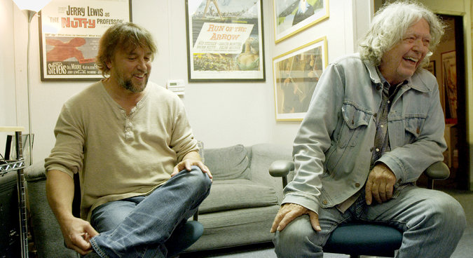 Filmmakers Richard Linklater and James Benning in Gabe Klinger's documentary Double Play (2013)