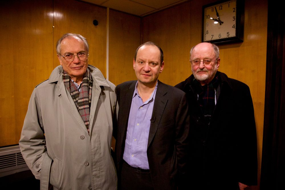 The protagonists of  A Nazi Legacy  (left to right: Horst von Wächter, Philippe Sands, Niklas Frank).