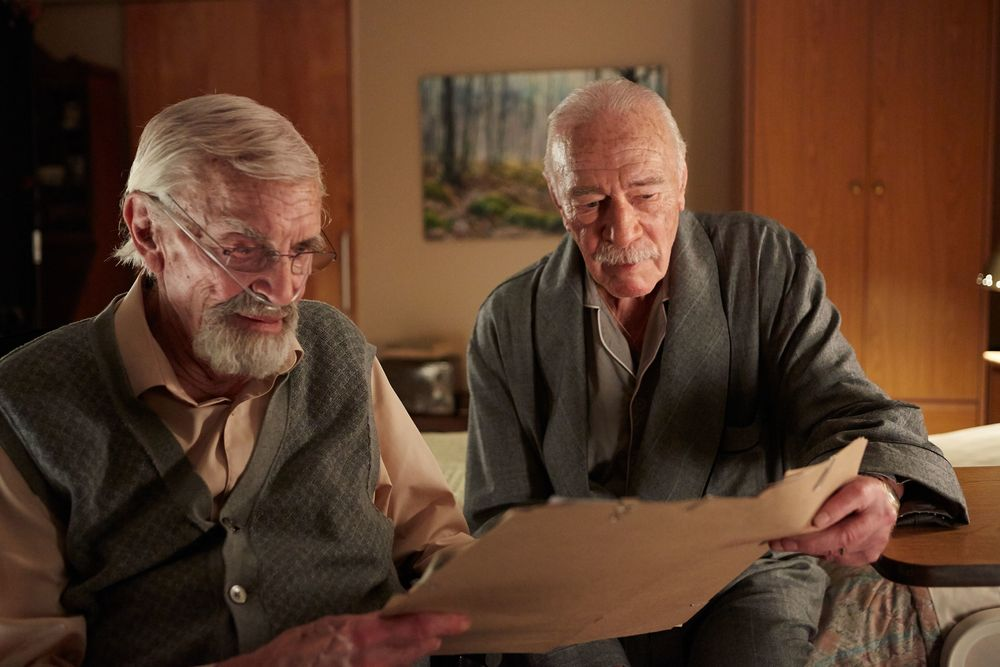 Holocaust survivors (Martin Landau, left; Christopher Plummer) plot in Remember.