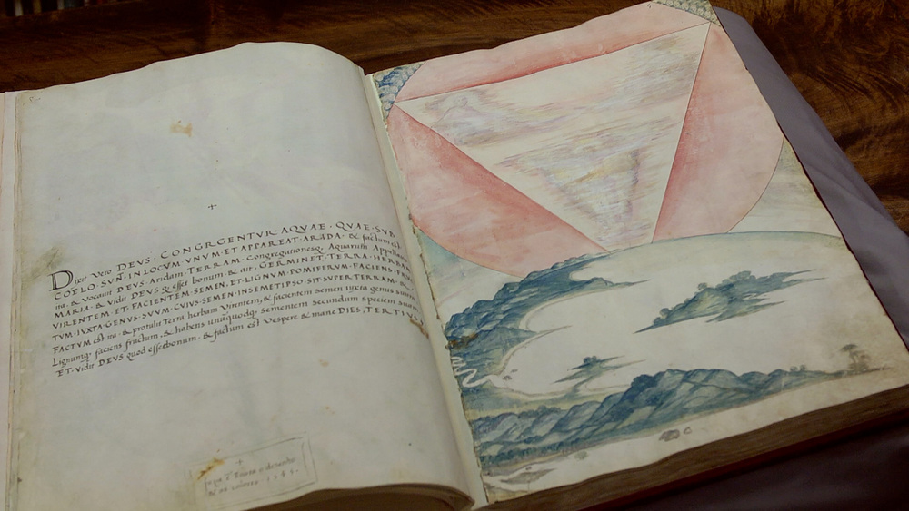 The film includes glimpses of Pinto's journals and drawings, as well as animation by his husband, Nuno