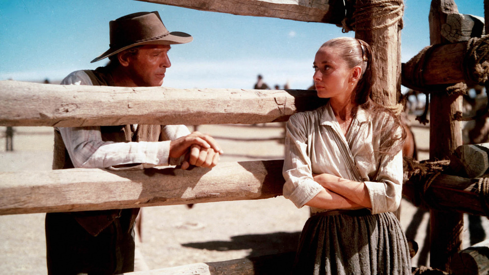 Burt Lancaster and Audrey Hepburn as Ben and his adopted sister Rachel in John Huston's underrated The Unforgiven