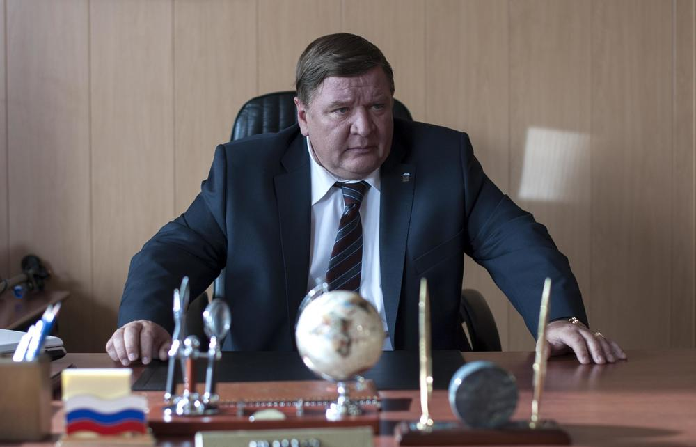 Roman Madyanov plays Vadim, the despotic, corrupt mayor of a small coastal Russian town in Zvyagintsev's Leviathan