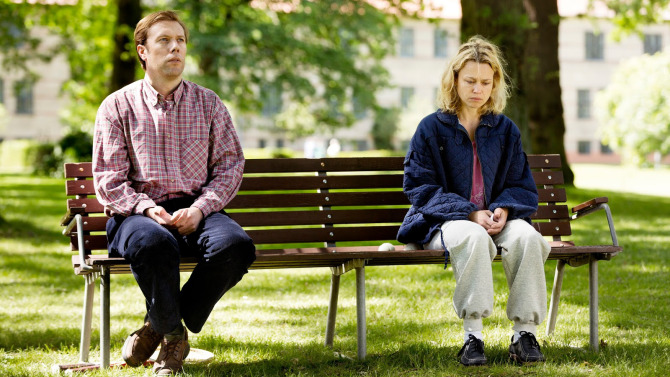 Sorrow and Joy chronicles the relationship between a man (Jakob Cedergren) and his mentally unstable wife (Helle Fagralid)