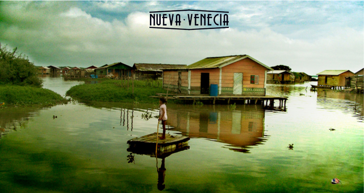 The houses in this fishing village on Colombia's Caribbean Coast perch atop piles in Nueva Venecia.