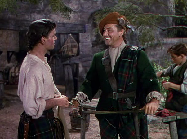 Errol Flynn's performance as Master Jamie represents a major departure from the character in Robert Louis Stevenson's novel