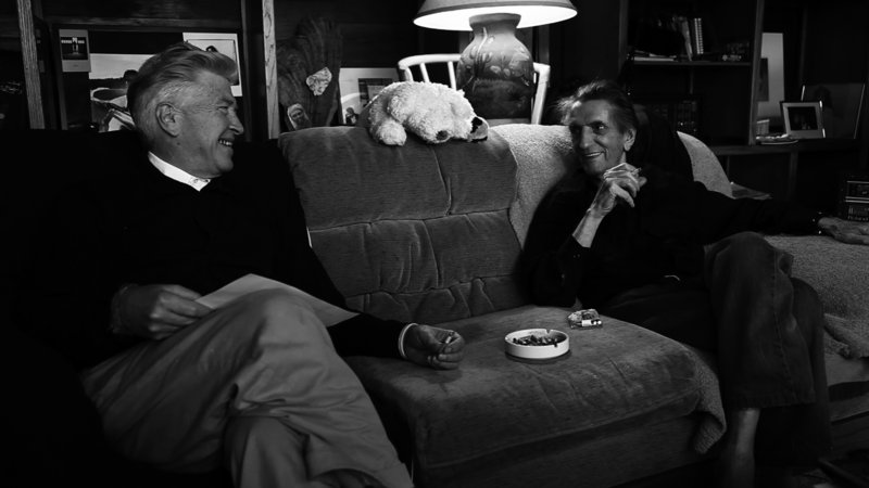 David Lynch and Harry Dean Stanton share a smoke in Harry Dean Stanton: Partly Fiction