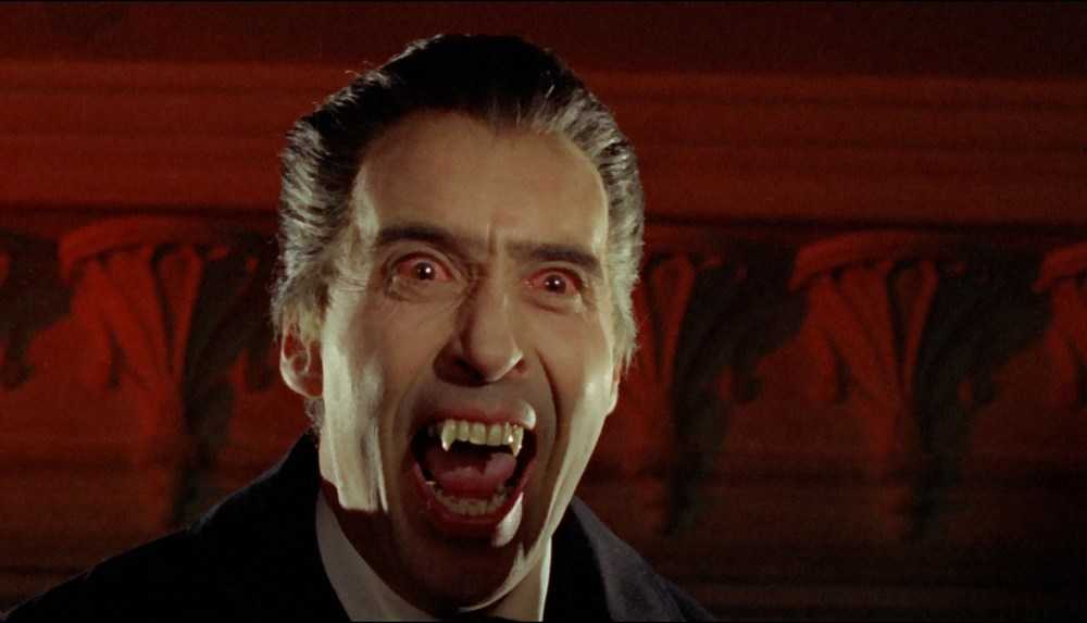 Christopher as Dracula in Hammer's Dracula: Prince of Darkness