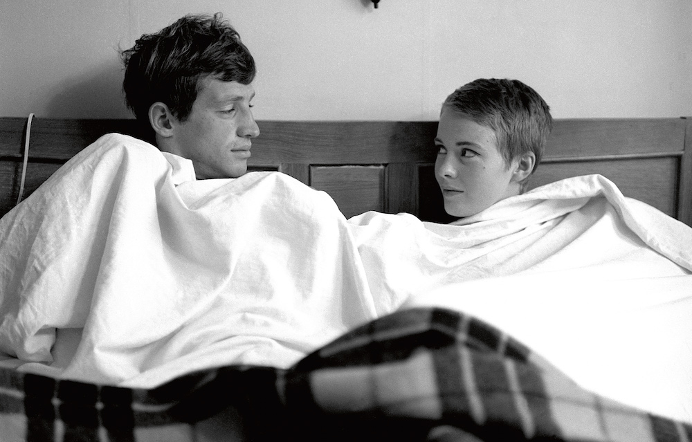 Jean Seberg and Jean-Paul Belmondo.