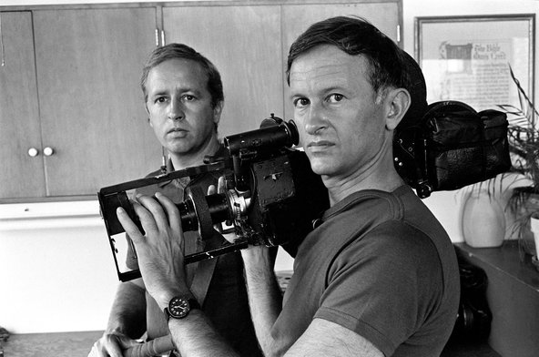 Albert Maysles (right) with his brother David