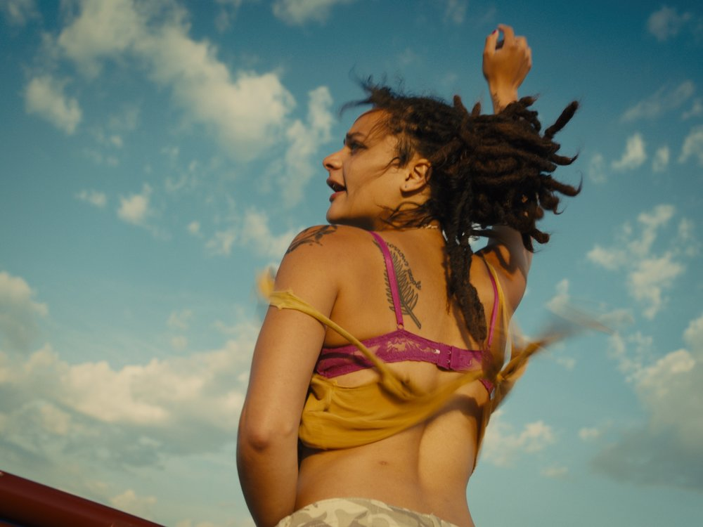 Young, wild & free: Star (Sasha Lane) at the height of her love for the inconstant Jake (Shia LaBeouf) in American Honey.
