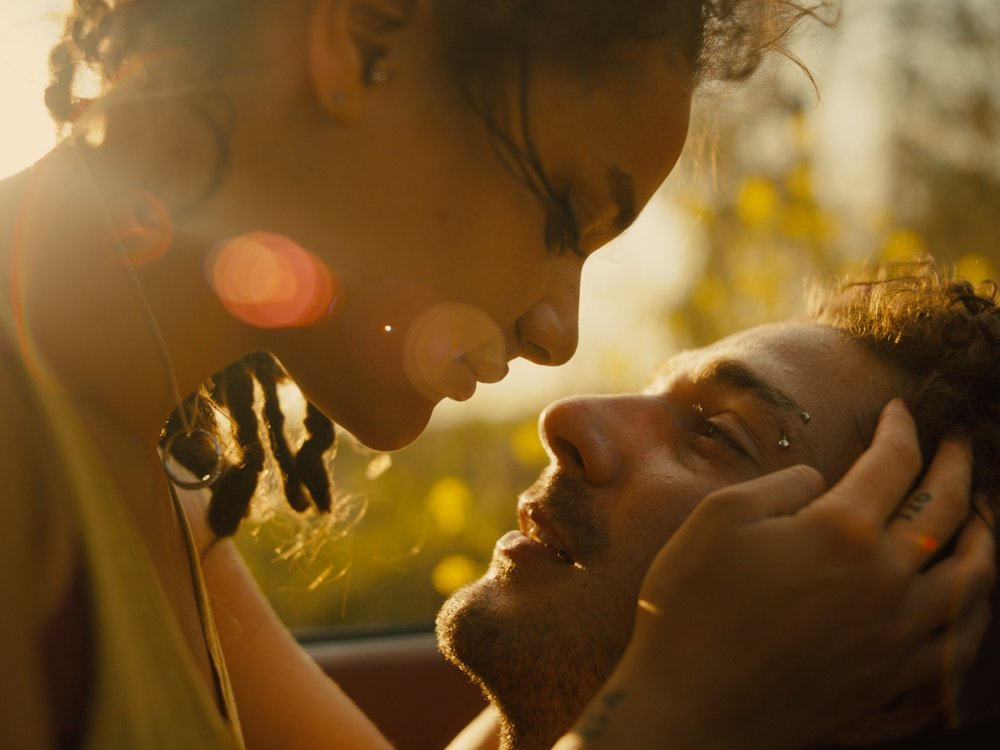 First love: Star (Sasha Lane) falls for Jake (Shia LaBeouf) but is ill-equipped to handle such intense emotion, especially when he pulls away from her.