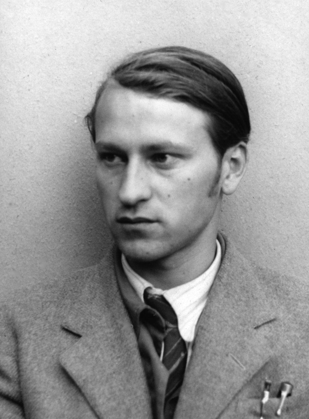 Jonas Mekas in 1947.