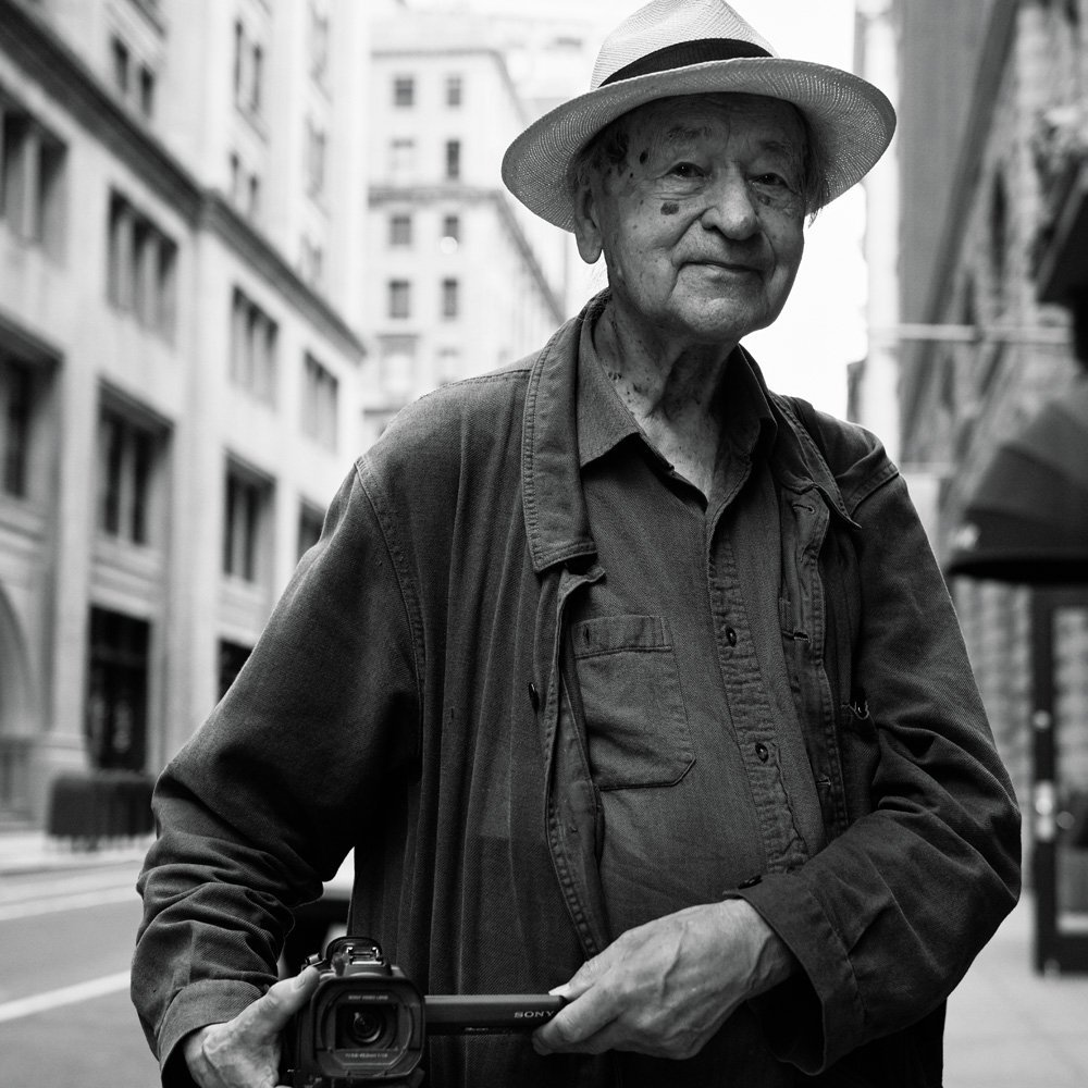 Jonas Mekas in New York, July 2015.
