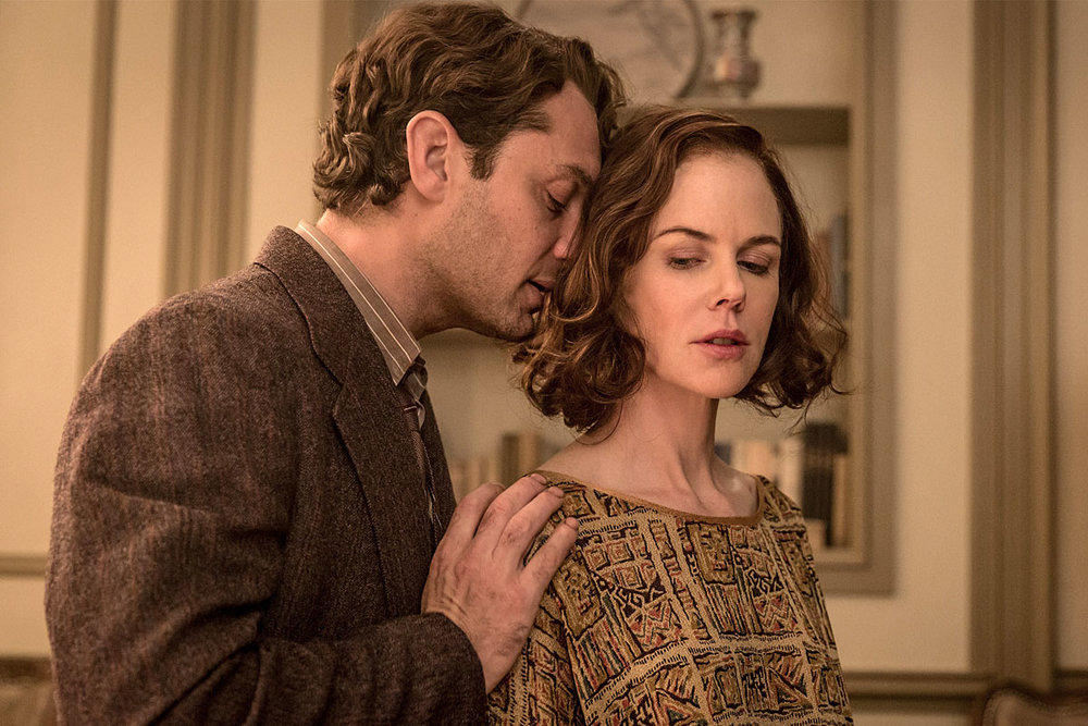 Jude Law as Thomas Wolfe and Nicole Kidman as Aline Bernstein in Michael Grandage's Genius.