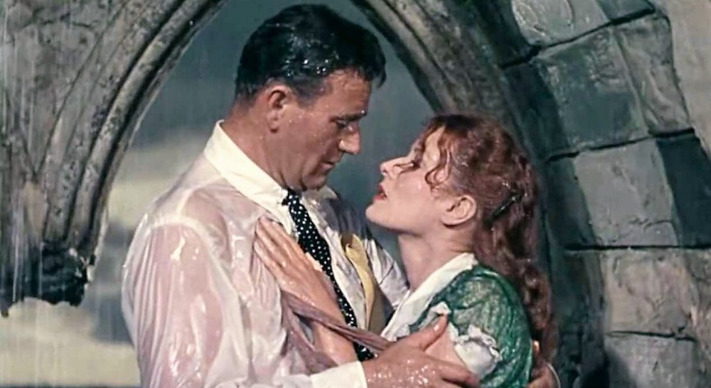 John Wayne and Maureen O'Hara  .