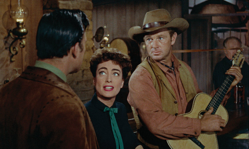 Joan Crawford and Sterling Hayden in Nicholas Ray's  Johnny Guitar  (1954).