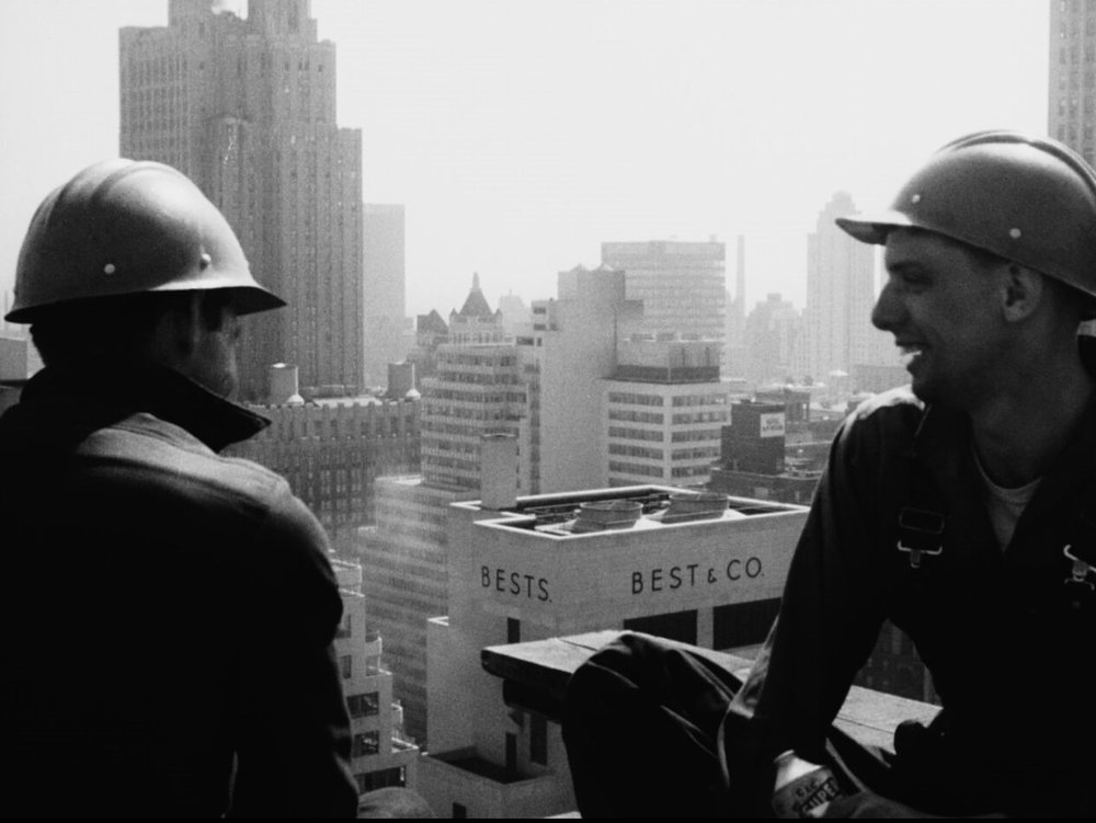 Shirley Clarke's documentary  Skyscraper  (1961).