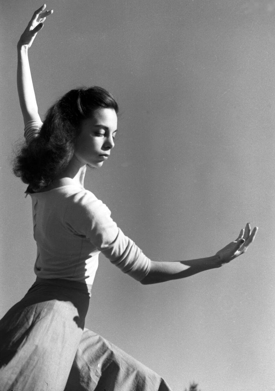 A young Shirley Brimberg dancing.