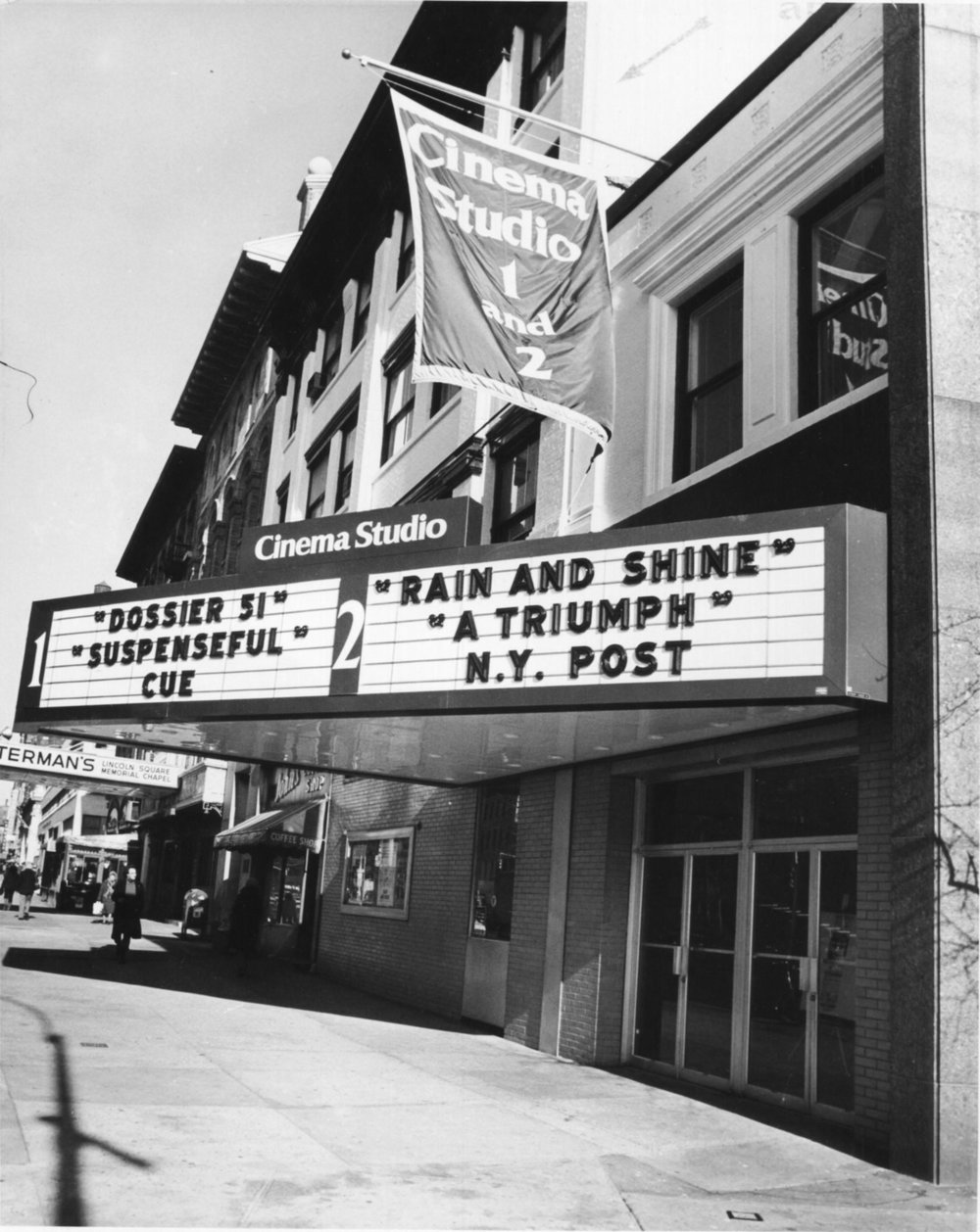 The Cinema Studio theater, which Dan Talbot managed from 1977 to 1990.