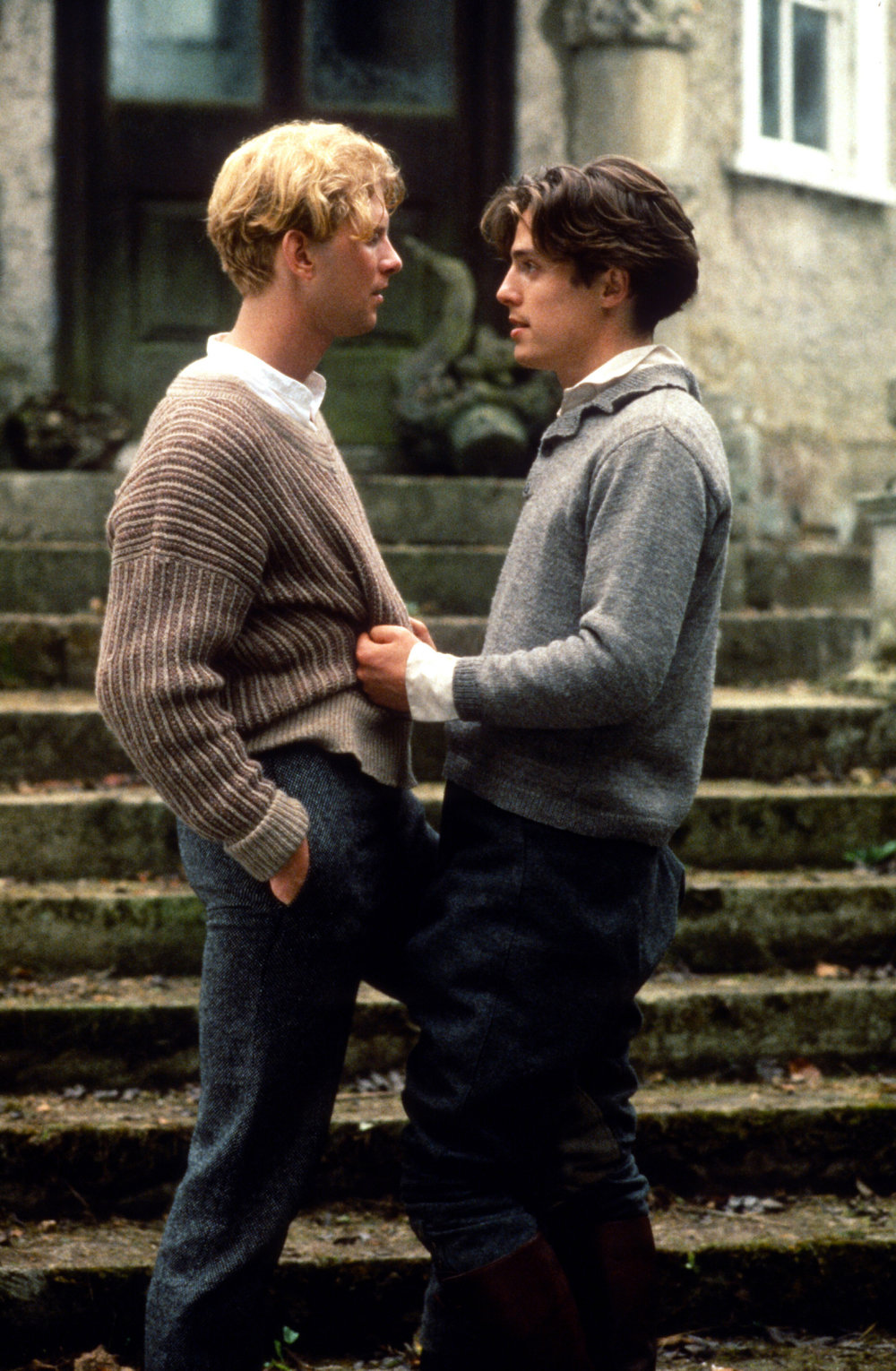 James Wilby (as Maurice Hall) and Hugh Grant (as Clive Durham). Photo courtesy of Photofest.