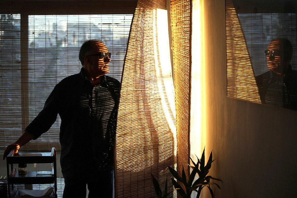 The revered director in pensive mood in Seifollah Samadian's 76 Minutes and 15 Seconds with Abbas Kiarostami.