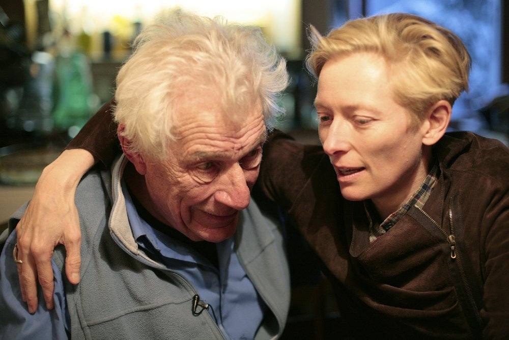 Propped up by Tilda Swinton, John Berger struggles for attention in his own 'portrait' film,  The Seasons in Quincy.