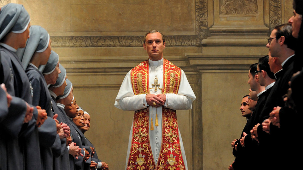 Jude Law as Lenny Belardo, the vain and unconventional, newly appointed Pope.
