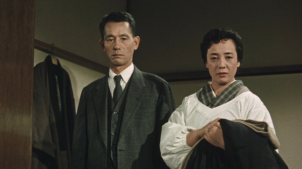 The parents of Isamu and Minoru, Mr. and Mrs. Hayashi (Chishu Ryu, left, and Kuniko Miyake), attempt to deal with the rebellious antics of their young sons.