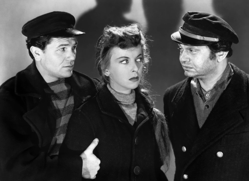 From left, Sea Wolf stars John Garfield, Ida Lupino, and Edward G. Robinson.