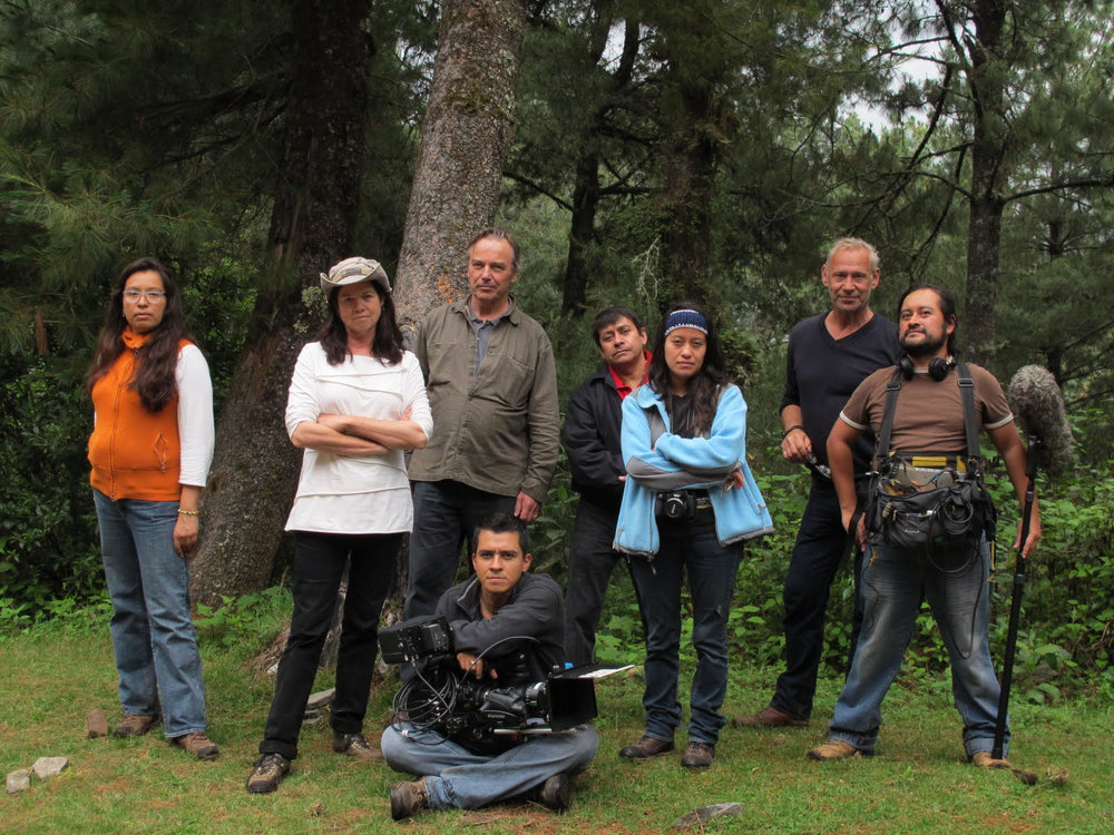 Cast and crew of 500 Years filming in the forest in Totonicapán, Guatemala in 2015. Photo by Skylight.is