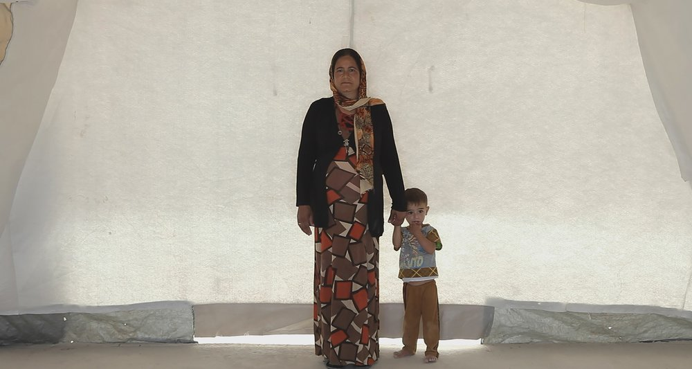 Mother and son at the Shariya refugee camp in Iraqi Kurdistan in  Human Flow.