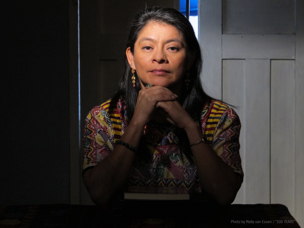 Irma Alicia Velásquez Nimatuj is the lead protagonist in  500 Years . She is a social anthropologist, journalist, author and is Maya K'iche'.